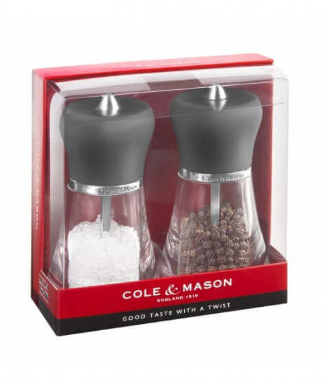 Cole & Mason Napoli Soft Touch Gift Set, dark grey