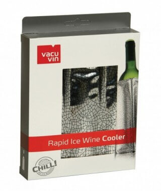 VacuVin Wine Cooler, silver