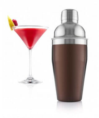 VacuVin Cocktail Shaker, brown-metal