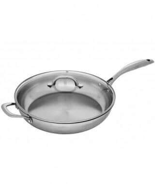 Swiss Diamond Premium Steel  Saute Pan With Lid, 28 cm